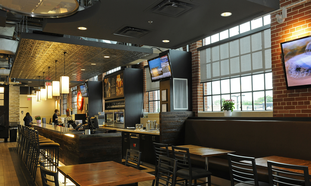 Longos Restaurant with Roller Shades
