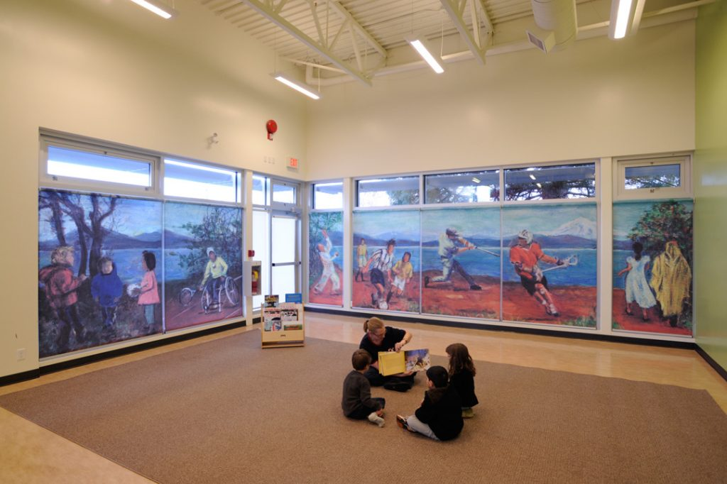 Graphic Shades at Gordon Head Recreation Centre